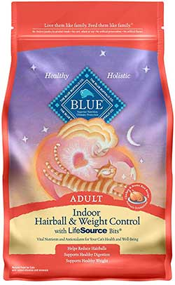 Blue Buffalo Indoor Hairball & Weight Control Natural Adult Dry Cat Food