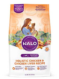 Halo Natural Dry Chicken and Chicken Liver Cat Food