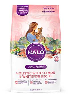 Halo Natural Dry Wild Salmon and Whitefish Cat Food