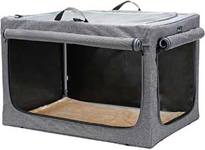 Petsfit Travel Pet Home IndoorOutdoor for Dog Steel Frame Home,Collapsible Soft Dog Crate